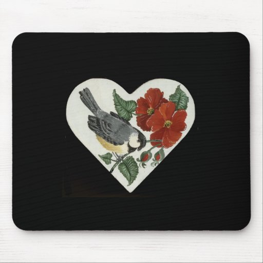 Finch & Poppies Mouse Pad