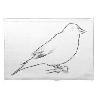 Finch Sketch Place Mat