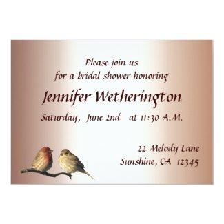 Finches Bridal Shower 5x7 Paper Invitation Card