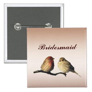 Finches Bridesmaid Pin