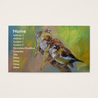 Finches Business Card