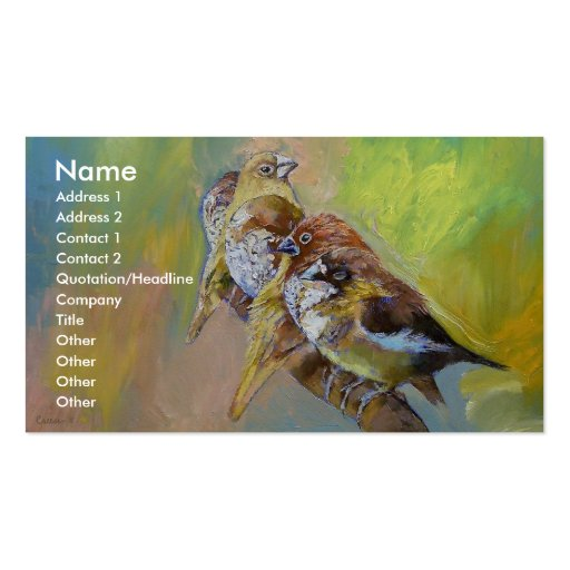 Finches Business Cards