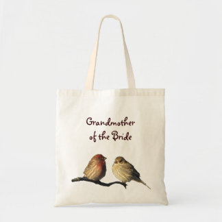 Finches Grandmother of the Bride Budget Tote Bag