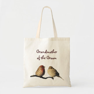 Finches Grandmother of the Groom Canvas Bag