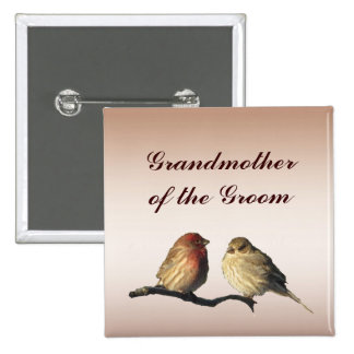 Finches Grandmother of the Groom Pin