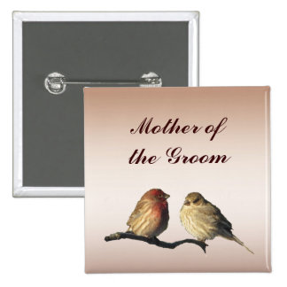 Finches Mother of the Groom Pin