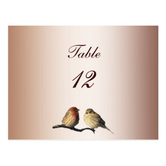 Finches Table Number Postcard