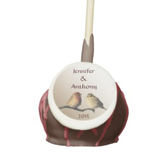 Finches Wedding Cake Pops