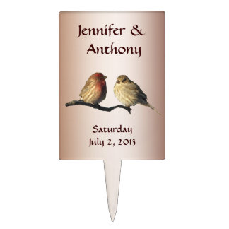 Finches Wedding Cake Topper