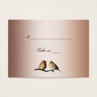 Finches Wedding Escort Card