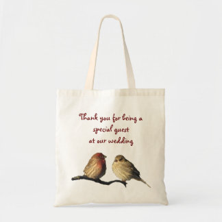 Finches Wedding Favor Budget Tote Bag