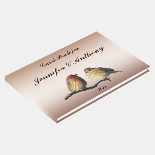 Finches Wedding Guest Book