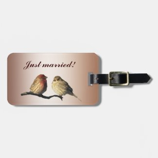 Finches Wedding Tags For Luggage