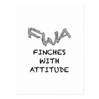 Finches With Attitude Postcard
