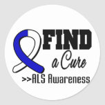 Find a Cure ALS Awareness Round Sticker