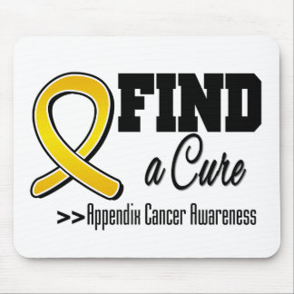 Find a Cure Appendix Cancer Awareness Mouse Pad