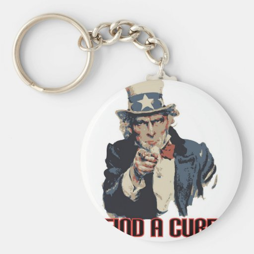 Find a Cure Basic Round Button Keychain