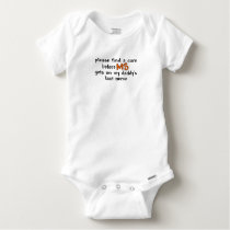 Find A Cure Before MS Gets On Daddy's Last Nerve Baby Onesie