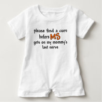 Find A Cure Before MS Gets On Mommy's Last Nerve Baby Romper