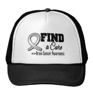Find a Cure Brain Cancer Awareness Trucker Hat