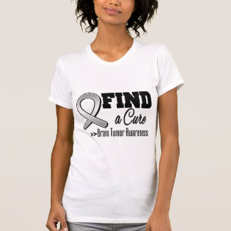 Find a Cure Brain Tumor Awareness T Shirt
