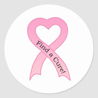 Find a Cure Breast Cancer Ribbon Sticker