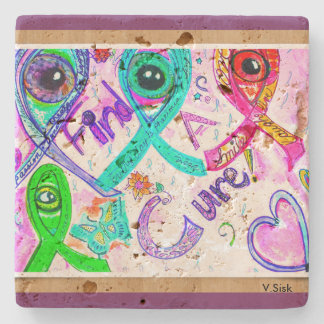 Find a Cure Coaster by V.Sisk