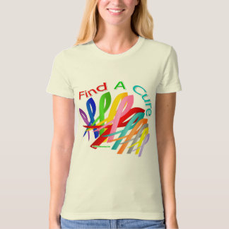 Find A Cure Colorful Cancer Ribbons Dresses