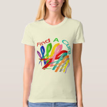 Find A Cure Colorful Cancer Ribbons T-Shirt