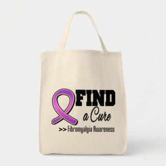 Find a Cure Fibromyalgia Awareness Canvas Bag