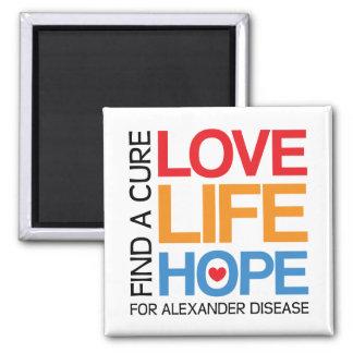 Find a cure for Alexander disease awareness magnet