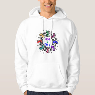 Find A Cure For All Cancers Tribal Ribbons Hoody