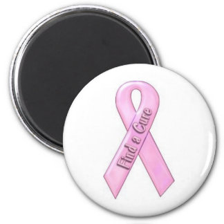 Find a cure for breast cancer fridge magnet