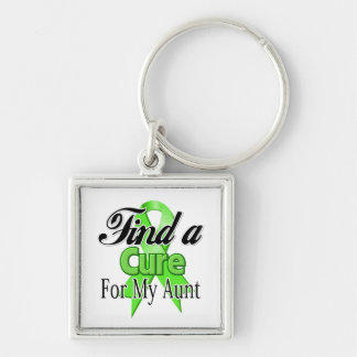 Find a Cure For My Aunt - Lymphoma Silver-Colored Square Keychain