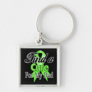 Find a Cure For My Dad - Lymphoma Silver-Colored Square Keychain