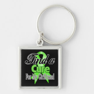 Find a Cure For My Girlfriend - Lymphoma Silver-Colored Square Keychain