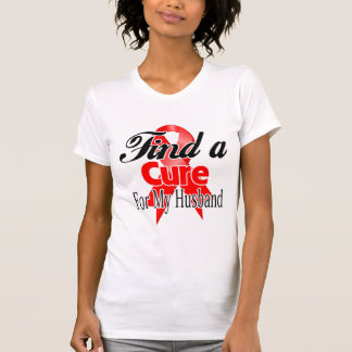 Find a Cure For My Husband - Blood Cancer T-shirt