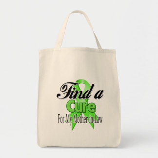 Find a Cure For My Mother-in-Law - Lymphoma Grocery Tote Bag