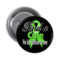Find a Cure For My Mother-in-Law - Lymphoma Pinback Button