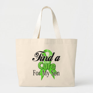 Find a Cure For My Son - Lymphoma Jumbo Tote Bag