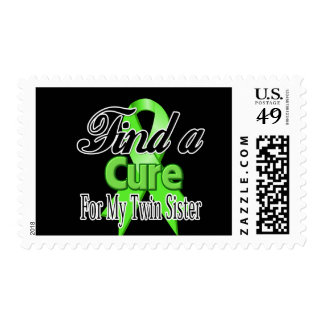 Find a Cure For My Twin Sister - Lymphoma Postage Stamp