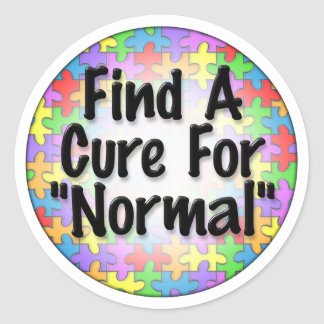 Find A Cure For Normal Classic Round Sticker