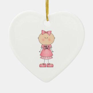 Find A Cure (girl) Ceramic Ornament