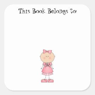 Find A Cure (girl) Square Sticker