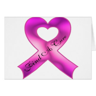 Find A Cure Greeting Card