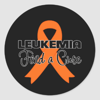 Find a Cure - Leukemia Classic Round Sticker
