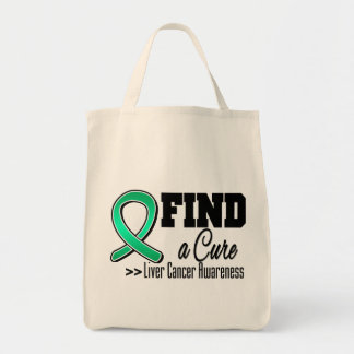 Find a Cure Liver Cancer Awareness Tote Bags