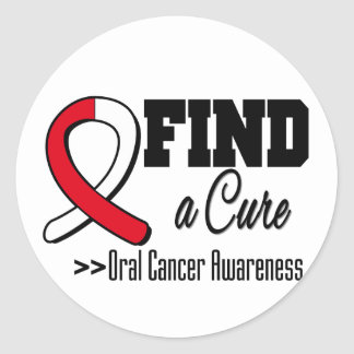 Find a Cure Oral Cancer Awareness Classic Round Sticker