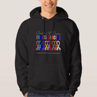 Find a Cure Ribbons For All Cancers Hooded Sweatshirts