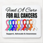 Find a Cure Ribbons For All Cancers Mouse Pad
